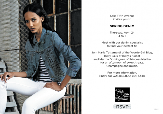 Saks Denim Invitation