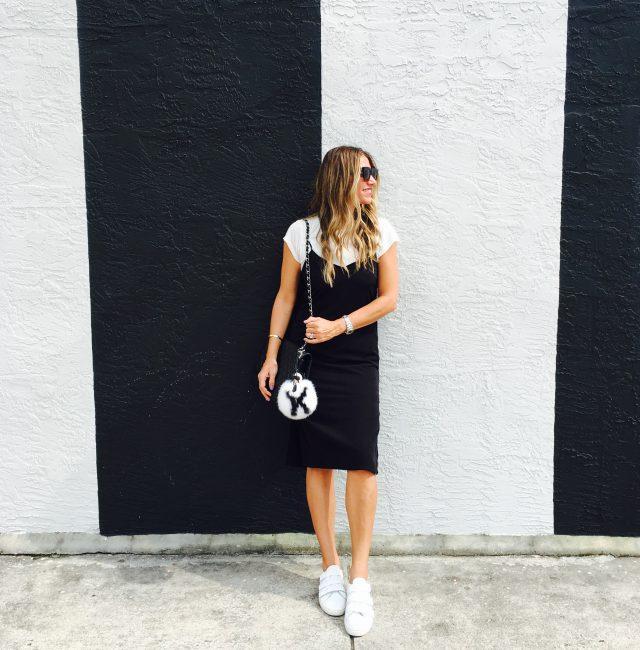 slip dress with tee shirt